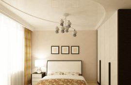 натяжной сатиновый потолок недорого фотография